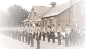 VSP Troops are inspected prior to a 1966 Presidential Visit