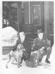 Commissioner Baumann & Duchess, Trooper Goslant with Major - March 1954