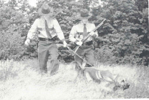 VSP Bloodhounds on the job with their handler - circa 1955